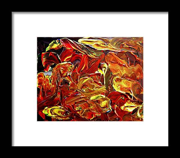 Abstract Framed Print featuring the painting Mummy Mayham by Karen L Christophersen