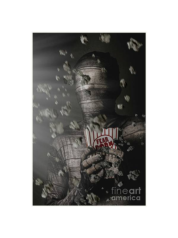 Artistic Photography Graphic Porn - Mummy Wrapped Up In Fear Porn News Framed Print