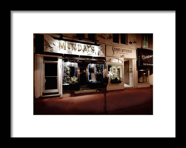 Huntington Framed Print featuring the photograph Mundays by Michael Simeone