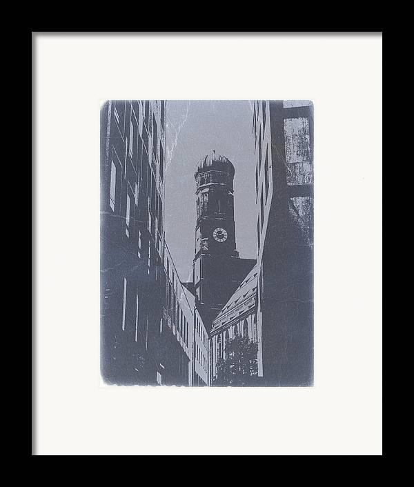 Framed Print featuring the photograph Munich Frauenkirche by Naxart Studio