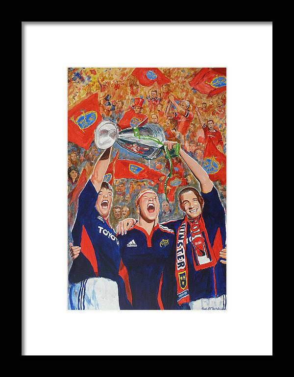 Munster Framed Print featuring the painting Munster Heiniken Cup Winners 2008 by Tomas OMaoldomhnaigh
