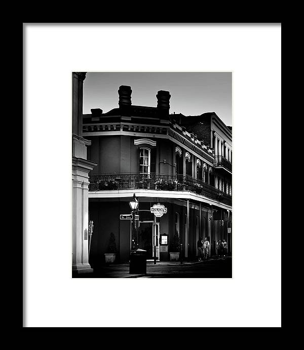 Chrystal Mimbs Framed Print featuring the photograph Muriel Evening In Black And White by Chrystal Mimbs