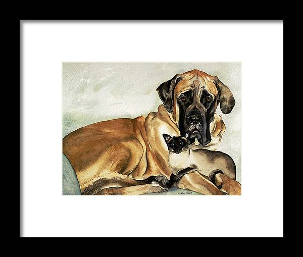 Portrait Framed Print featuring the painting Murphy and Cody by Eileen Hale