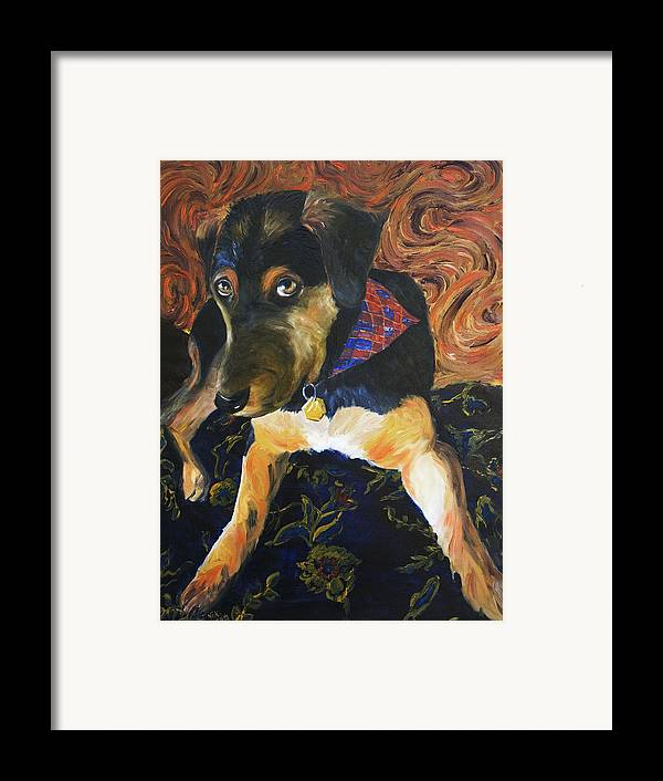 Dog Framed Print featuring the painting Murphy I by Nik Helbig