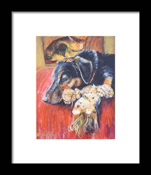 Dog Framed Print featuring the painting Murphy Viii by Nik Helbig