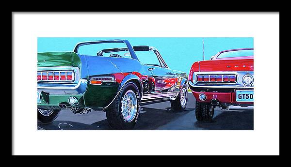 Car Framed Print featuring the painting Muscle Control by Lynn Masters