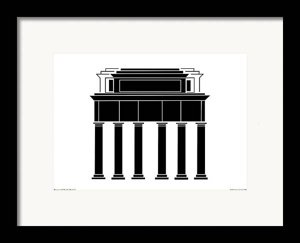 Framed Print featuring the digital art Museo Del Prado by Asbjorn Lonvig
