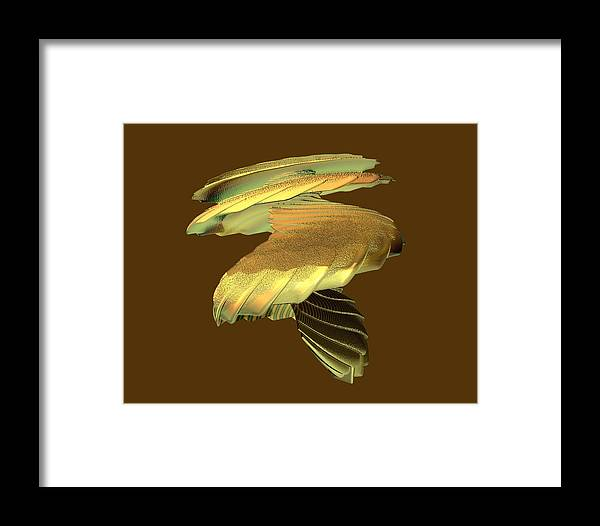 Abstract Framed Print featuring the digital art Mushroom by Frederic Durville