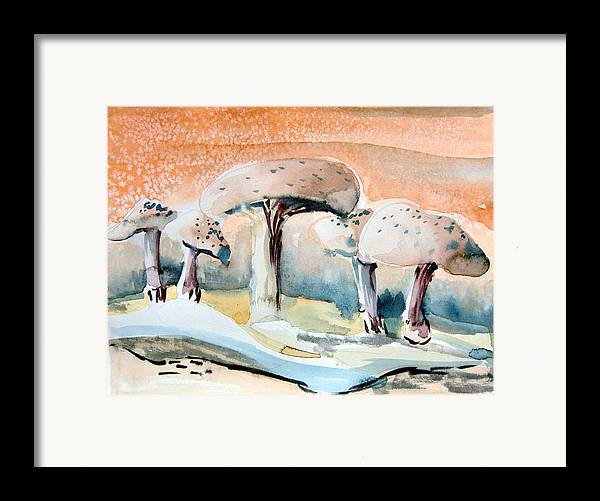 Mushrooms Framed Print featuring the painting Mushroom Heaven by Mindy Newman