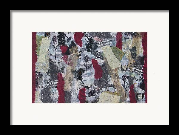 Collage Framed Print featuring the mixed media Music And Roses by Michele Caporaso