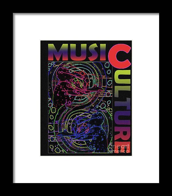 Music Culture Framed Print featuring the digital art Music Culture by Karen Elzinga