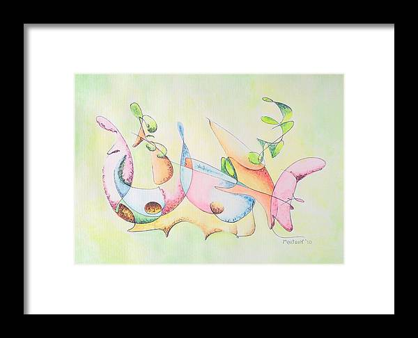 Watercolor Framed Print featuring the drawing Music by Dave Martsolf