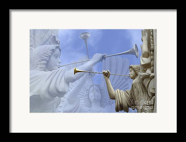 Angel Framed Print featuring the photograph Music Divine by Jeannie Burleson