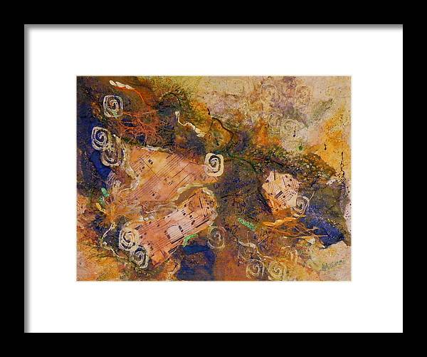 Mixed Media Framed Print featuring the painting Music Makers by Tara Milliken