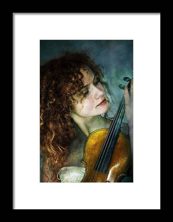 Girl Framed Print featuring the photograph Music My Love by Zygmunt Kozimor