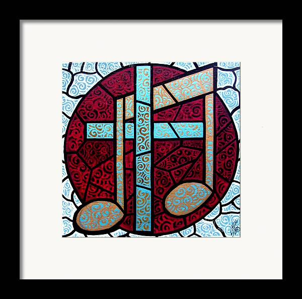 Cross Framed Print featuring the painting Music Of The Cross by Jim Harris