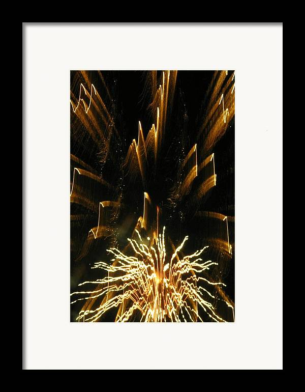 Fireworks Framed Print featuring the photograph Music To My Eyes by Rhonda Barrett