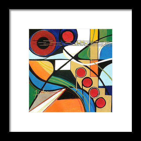 Music Framed Print featuring the painting Musical Abstract by Gina Hulse