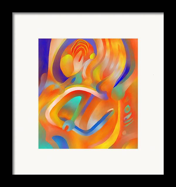Colorful Framed Print featuring the digital art Musical Enjoyment by Peter Shor