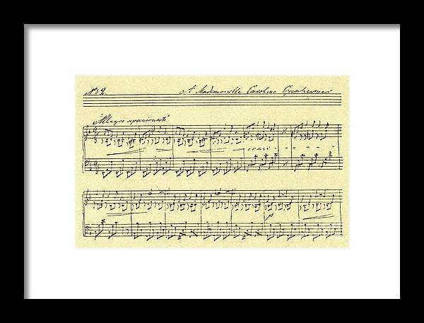 Musical Score Russian Composer And Pianist, Anton Rubinstein Framed Print