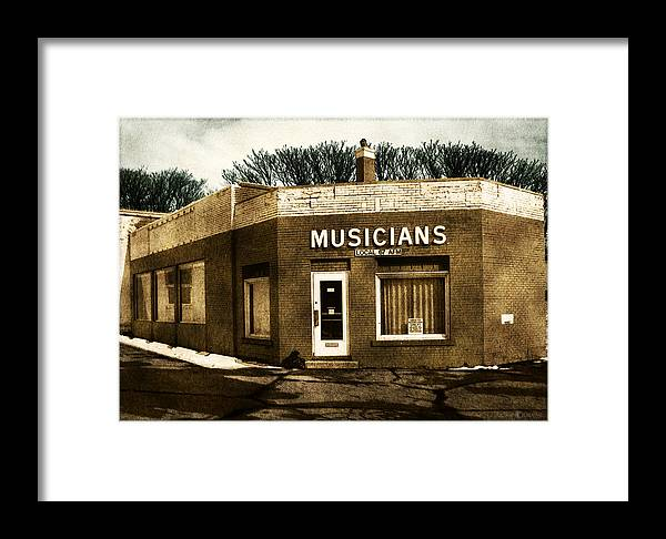 1950s Framed Print featuring the photograph Musicians Local 67 by Tim Nyberg