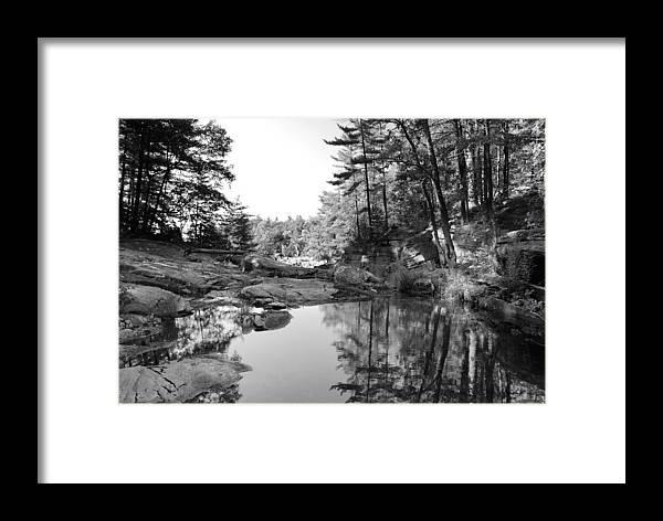 Lake Rocks Landscape Pine Canada Framed Print featuring the photograph Muskoka Country II by Andriy Zolotoiy