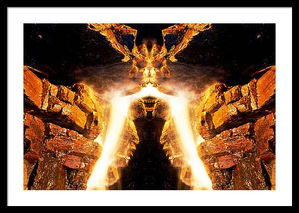 Rock Framed Print featuring the photograph Muskoka Falls 8 by John Bartosik