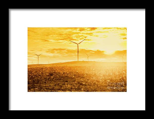 Australia Framed Print featuring the photograph Musselroe Wind Farm by Jorgo Photography - Wall Art Gallery
