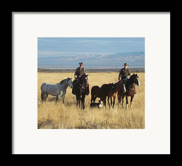 Western Framed Print featuring the photograph Mustang 'n' Cowboys by Janey Loree