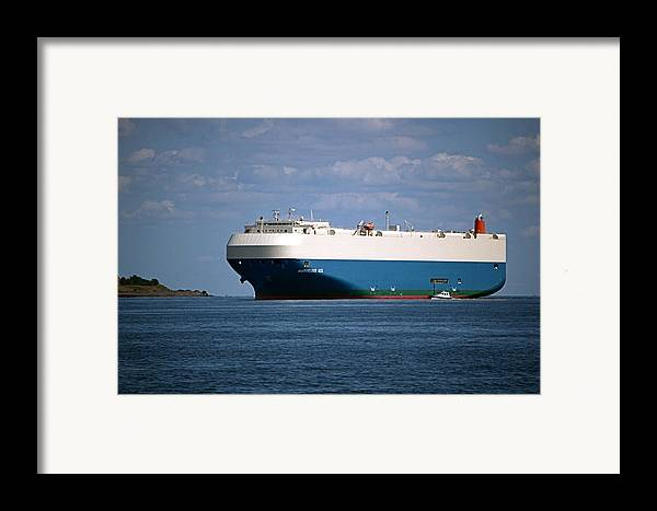 Ship Framed Print featuring the photograph Mv Marvelous Ace Inbound Port Of Baltimore by Wayne Higgs