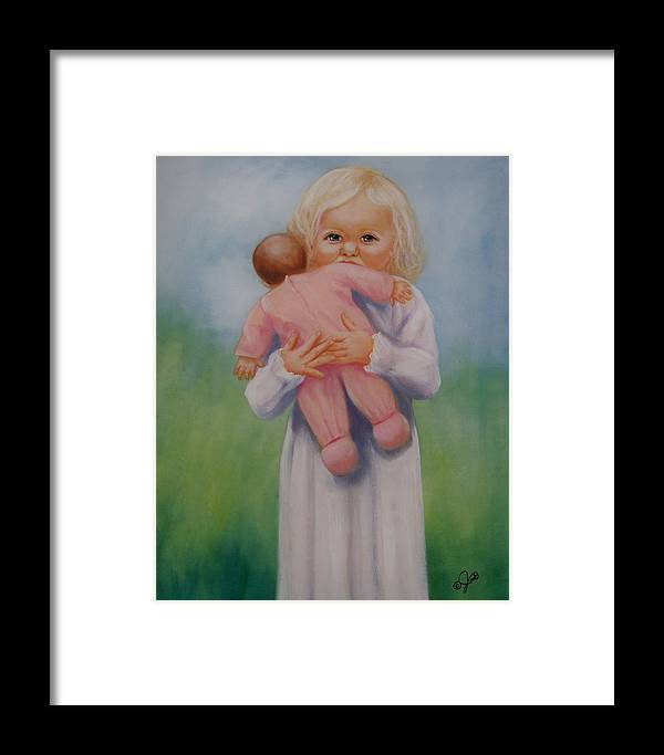Oil Painting Framed Print featuring the painting My Baby by Joni McPherson