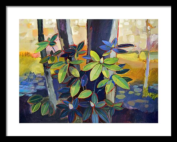 Landscape Framed Print featuring the painting My Back Yard by Farhan Abouassali