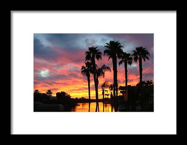 Sunset At The Islands Framed Print featuring the photograph My Backyard by Dan Hausel