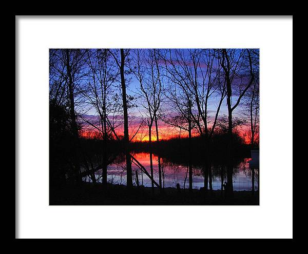 Lake Framed Print featuring the photograph My Backyard by J R Seymour