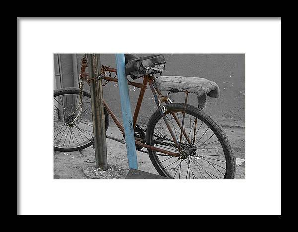 Bike Framed Print featuring the photograph My Bike by Don Prioleau