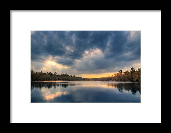Framed Print featuring the photograph My Blue Heaven by Jason Rossi