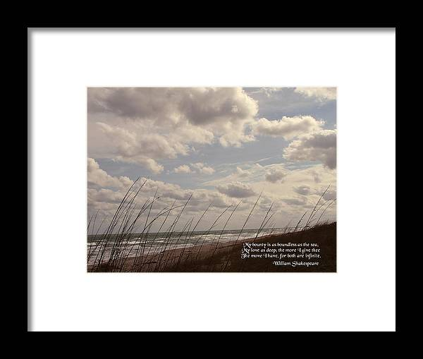 Seascape Framed Print featuring the photograph My Bounty by Judy Waller
