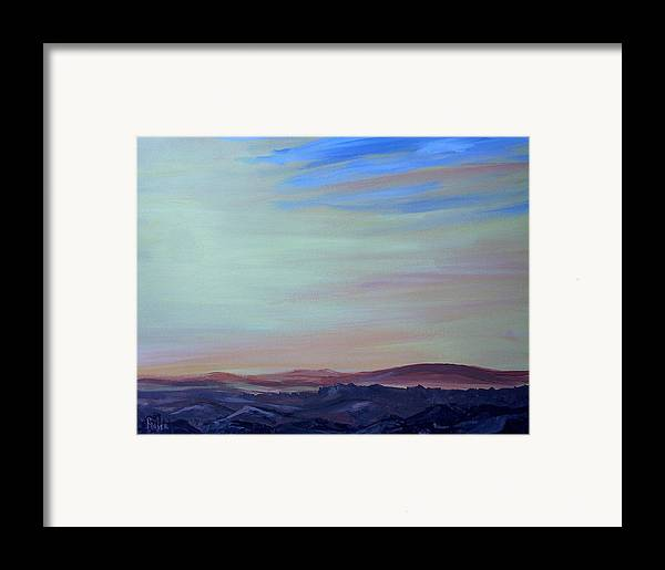 Southwest Framed Print featuring the painting My Brothers Territory by Pete Maier