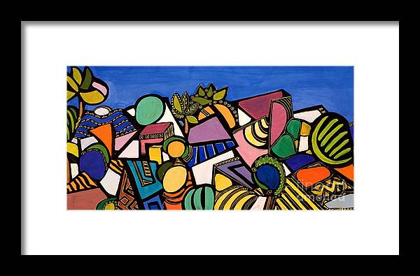 Abstract Framed Print featuring the painting My Colorful World by Maya Green