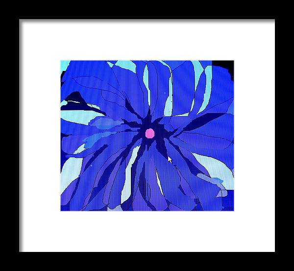 Flower Framed Print featuring the digital art My Fantastic Flower by Ian MacDonald