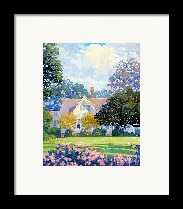 House Framed Print featuring the painting My Fathers House by Kevin Lawrence Leveque