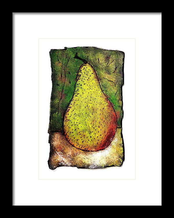 Pear Framed Print featuring the painting My Favorite Pear One by Wayne Potrafka