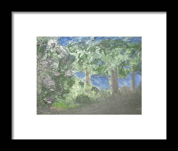 Love Framed Print featuring the painting My First Love by Paula Andrea Pyle