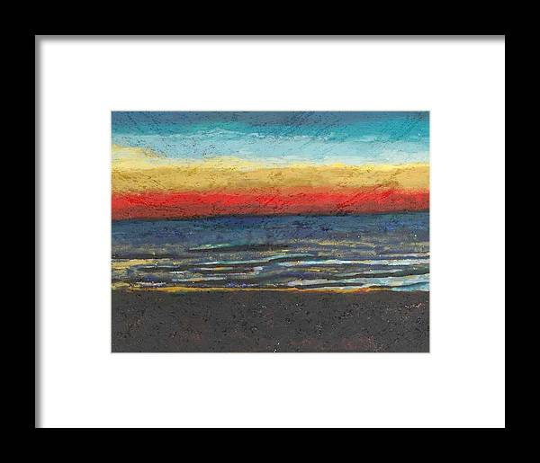 Landscape Framed Print featuring the painting My Florida Sunset by Rika Maja Duevel