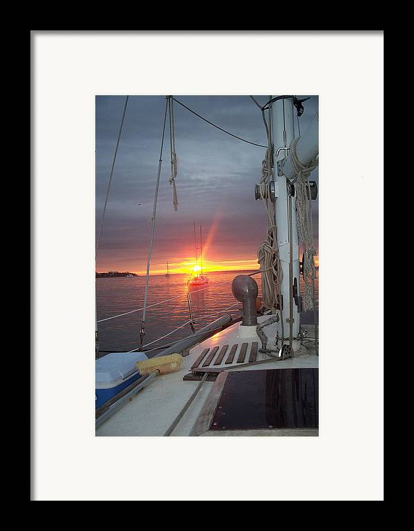 Sunrise Framed Print featuring the photograph My Front Yard by Danita Cole