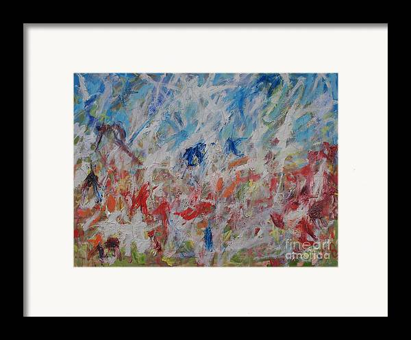 Abstract Framed Print featuring the painting My Garden In Venice by Michael Henderson
