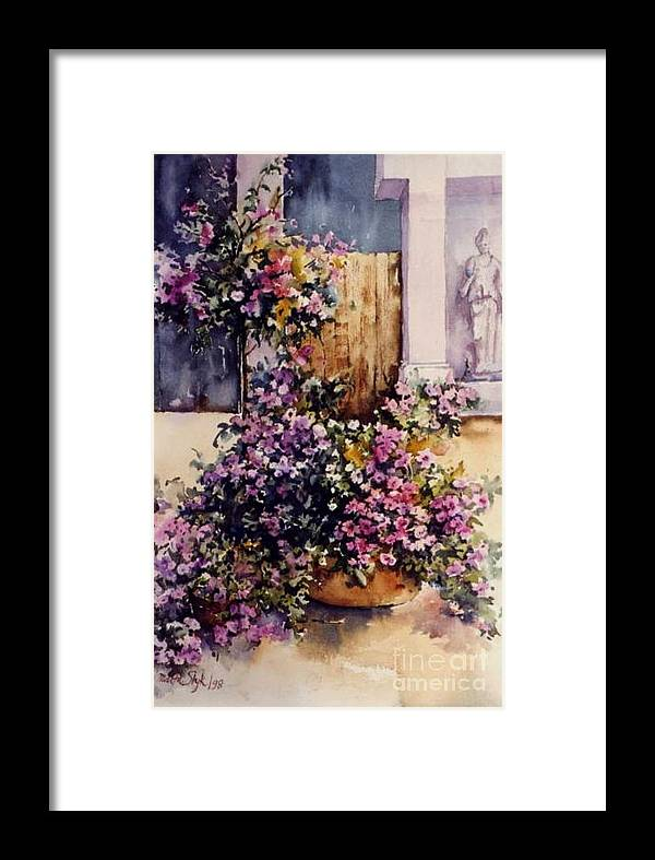 Summer Baskets Framed Print featuring the painting My Garden by Marta Styk