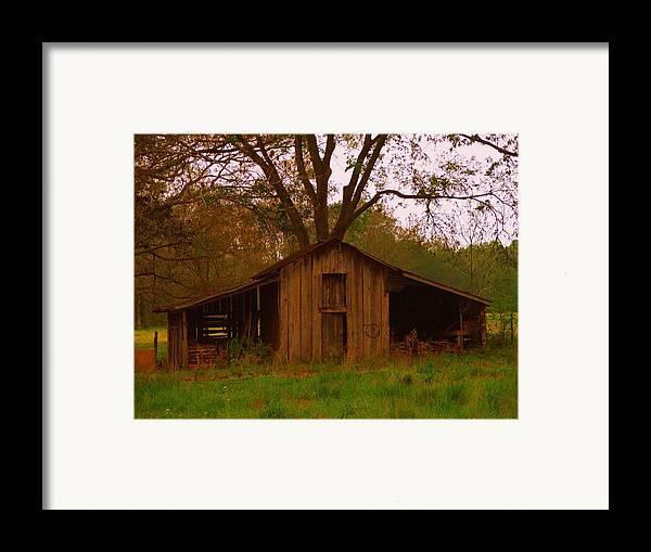 Barn Framed Print featuring the photograph My Georgia Barn by Judy Waller