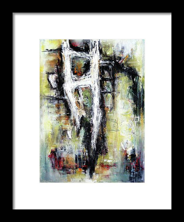 Abstracts Forms Framed Print featuring the painting My Heart's Adoration by Anil Kohli