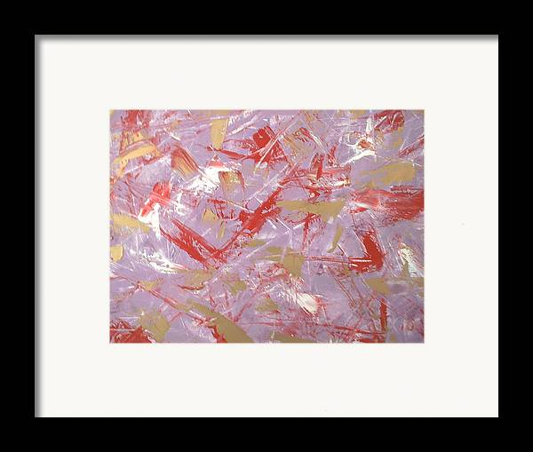 Abstract Art Framed Print featuring the painting My Idea by Guillermo Mason